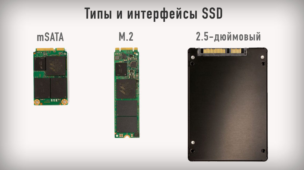 Типы и интерфейсы SSD - mSata, M.2 и 2.5-дюймовый