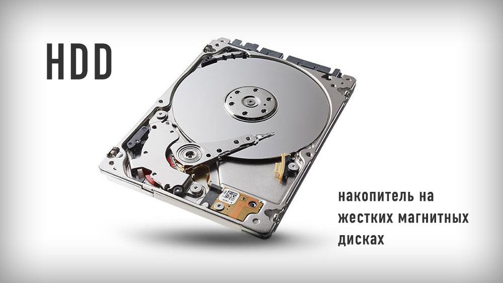 HDD - накопитель на жестких магнитных дисках