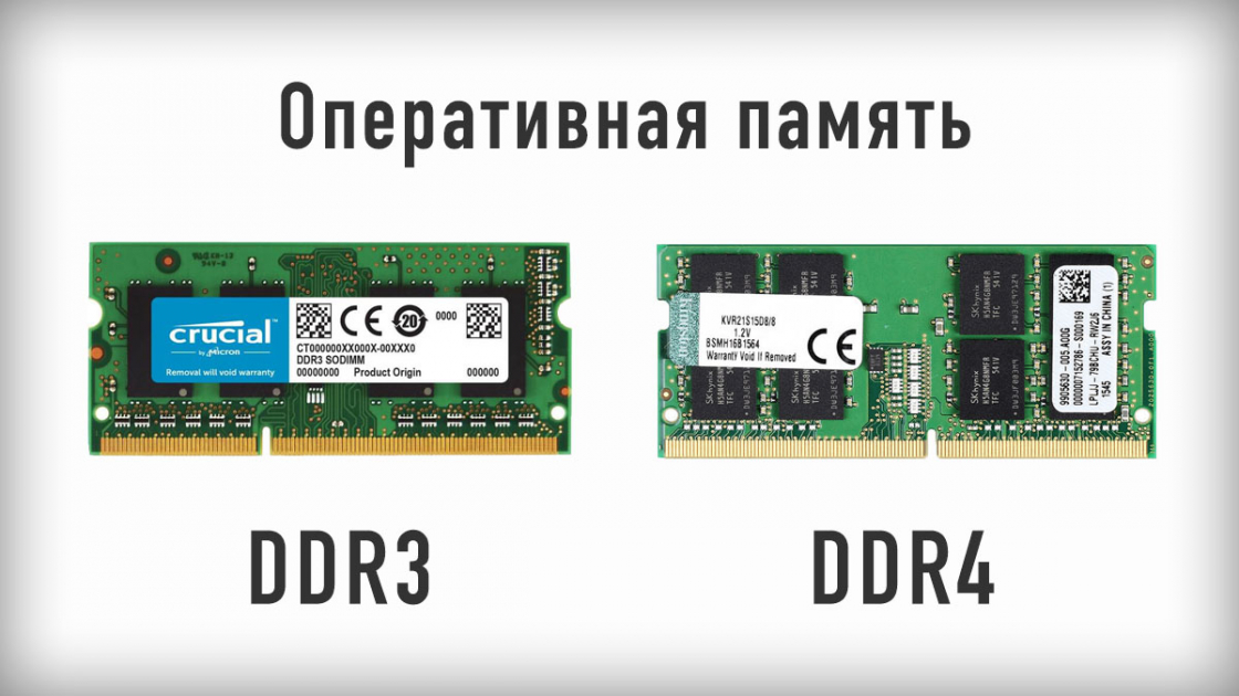 Оперативная память ноутбуков - DDR3 и DDR4