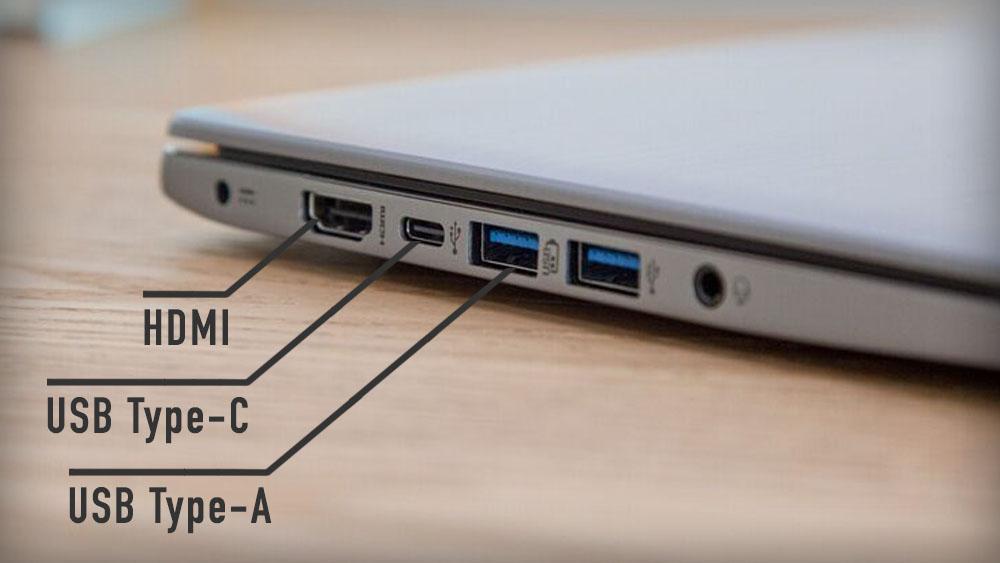 Разъемы на современных ноутбуках - HDMI, USB Type-C, USB Type-A