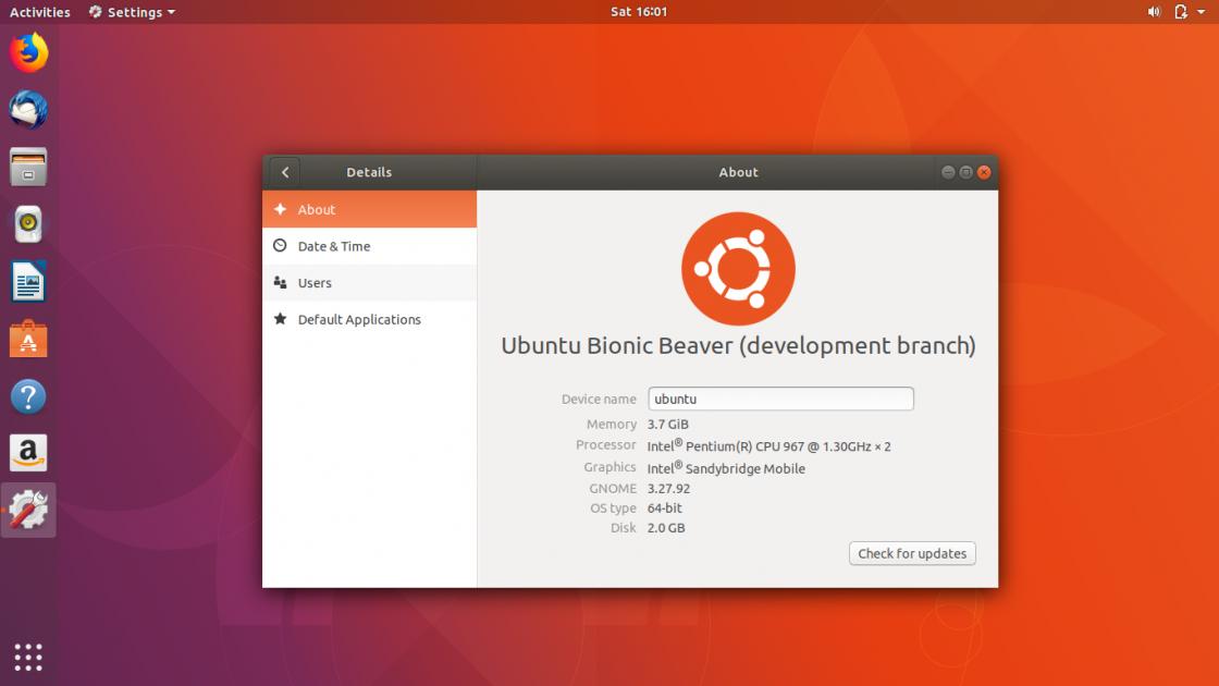 Операционная система Ubuntu 18.04