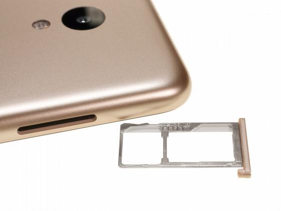 Обзор смартфона Meizu M5 - лоток для сим карты и карты памяти