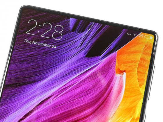 Обзор Xiaomi Mi Mix - вид спереди, верхний край