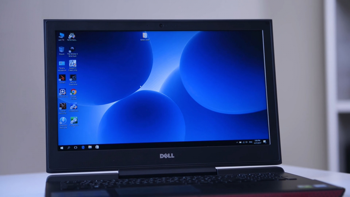 Обзор игрового ноутбука Dell Inspiron 7567 - светодиод на кабеле
