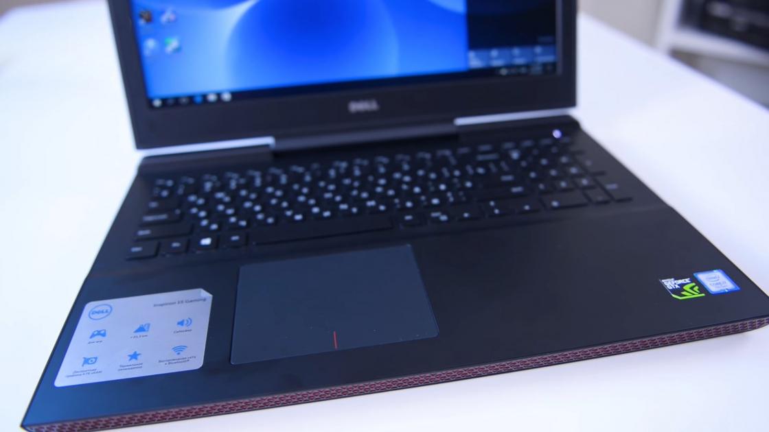 Обзор игрового ноутбука Dell Inspiron 7567 - тачпад
