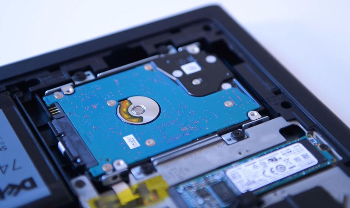 Обзор игрового ноутбука Dell Inspiron 7567 - жесткий диск