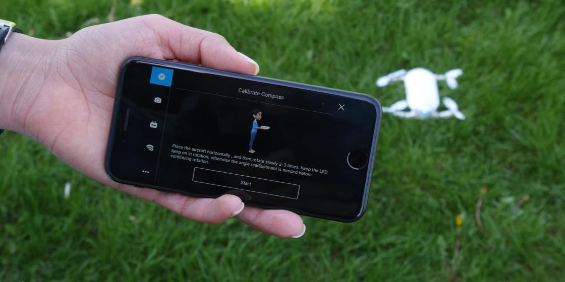 Обзор мини-дрона Zerotech Dobby - калибровка