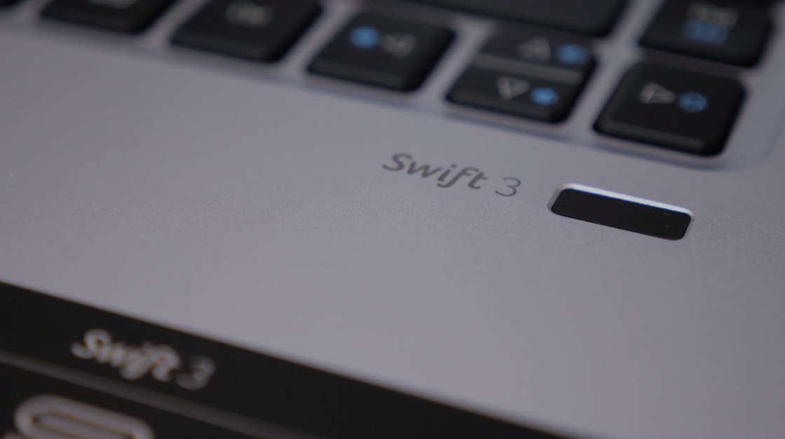Обзор Acer Swift 3 - сканер отпечатка пальца