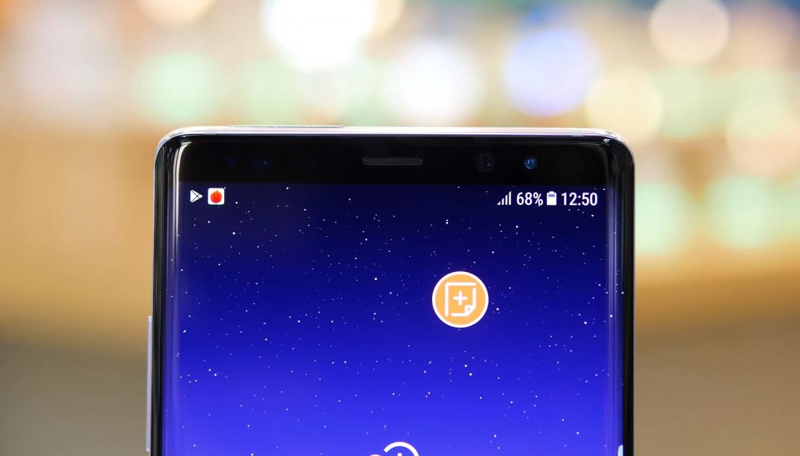 Обзор Samsung Galaxy Note 8 - верхняя панель