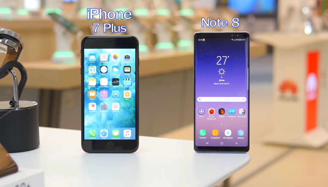 Обзор Samsung Galaxy Note 8 - в сравнении с iPhone 7 Plus