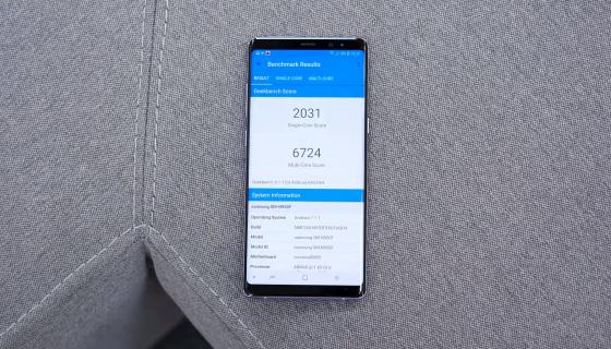 Обзор Samsung Galaxy Note 8 - результаты бенчмарков 2