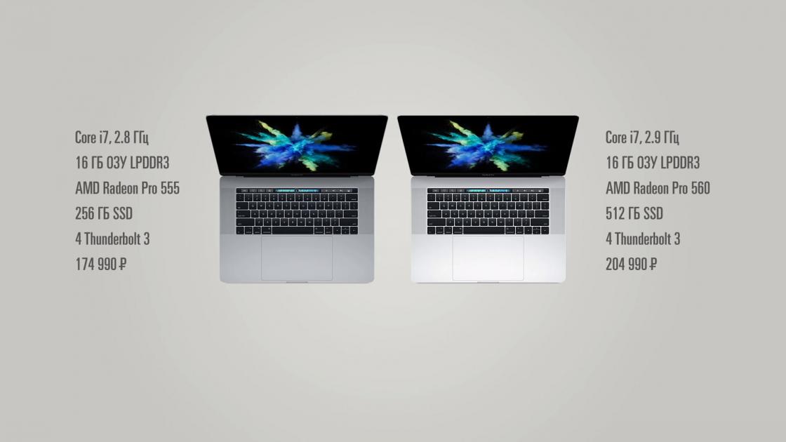 Обзор MacBook Pro 2017 - характеристики 15 дюймовых моделей