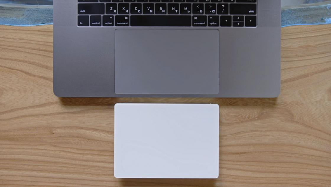 Обзор MacBook Pro 2017 - трекпад