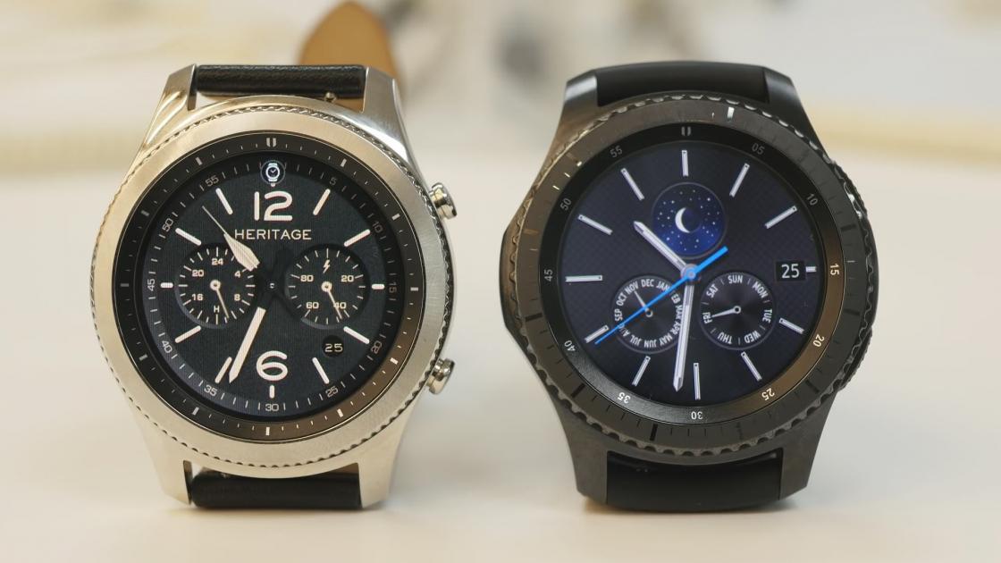 Новые Samsung Gear S3 Classic и Frontier выглядят более солидно