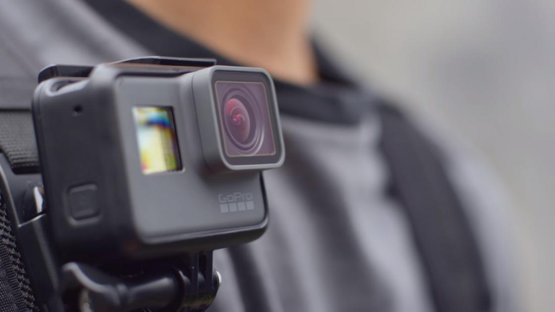 Обзор GoPro HERO 5 - крепление к лямке рюкзака