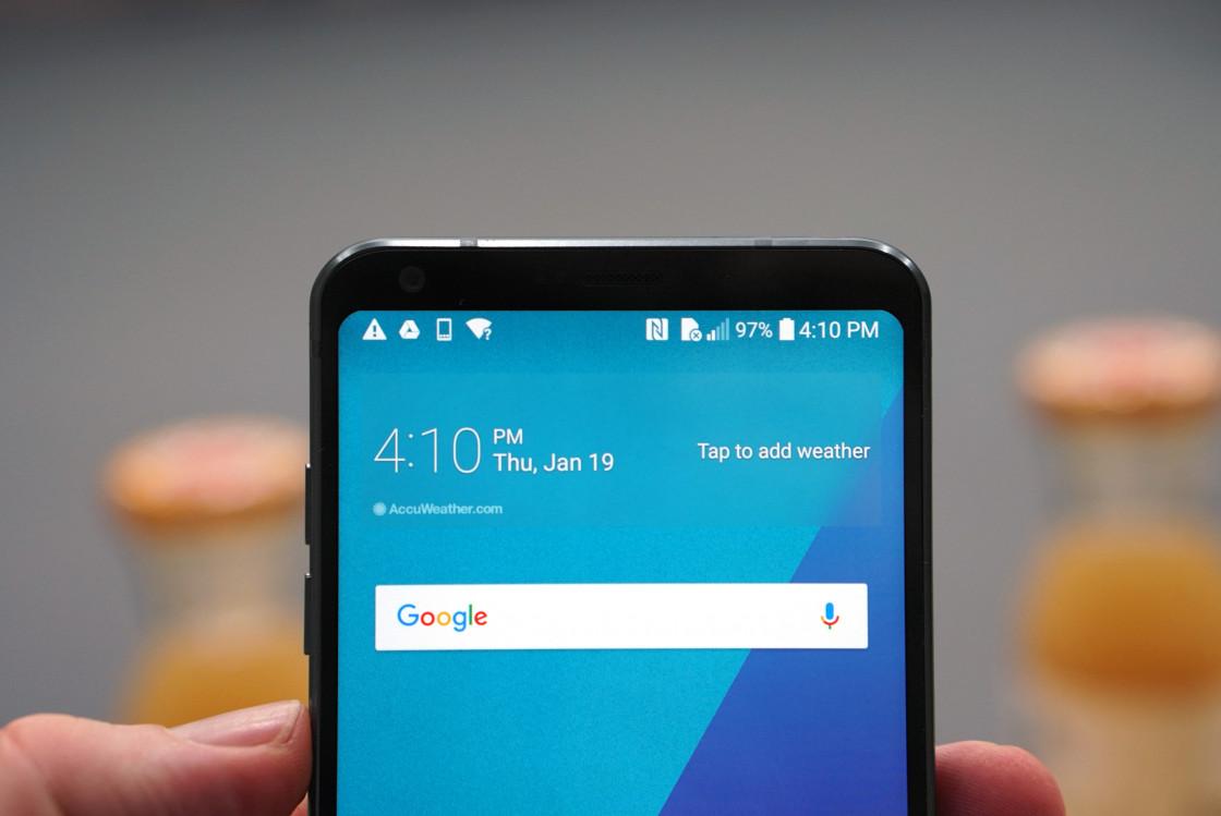 Обзор смартфона LG G6 - тулбар