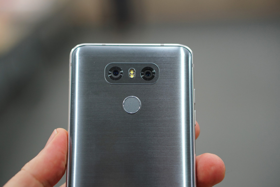 Сканер отпечатков пальцев Ice Platinum - LG G6