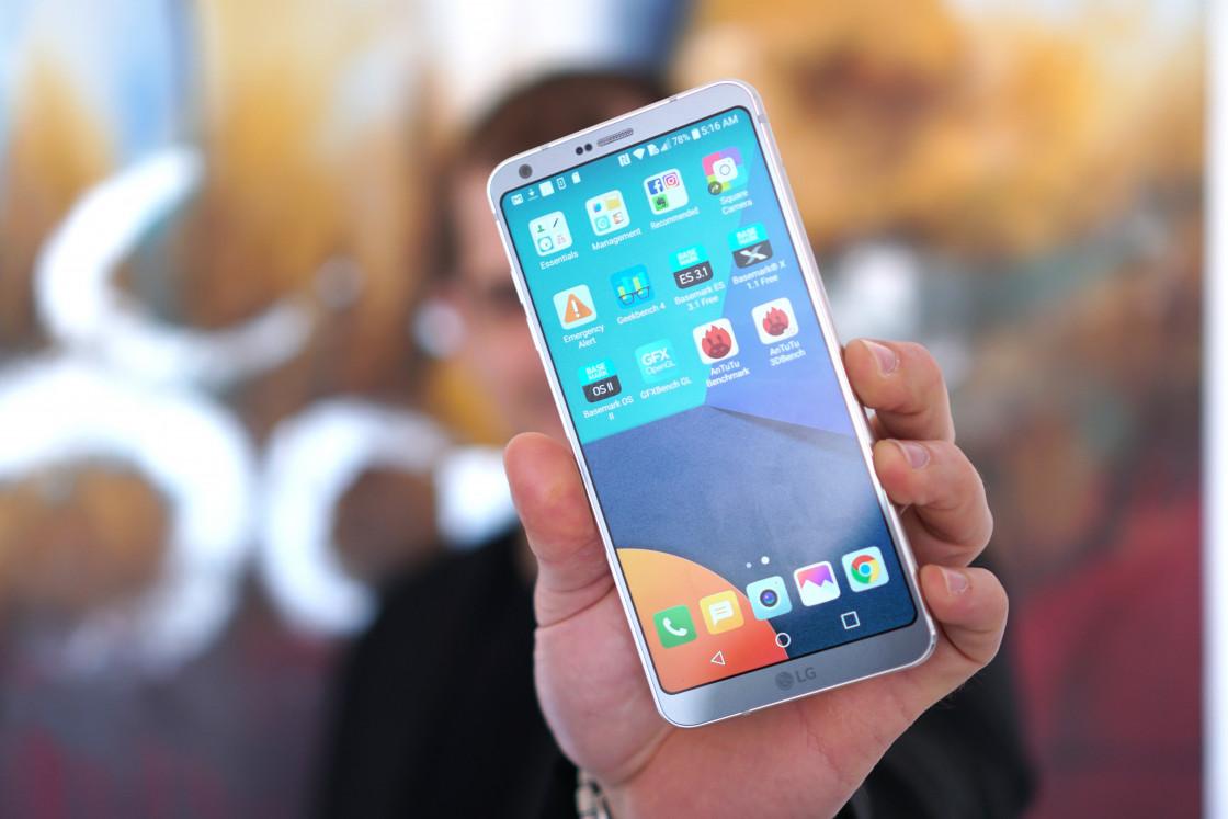 LG G6 - главный экран