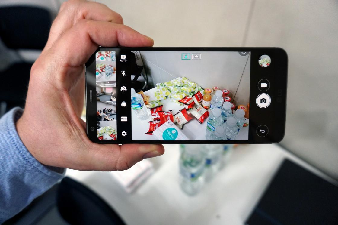 LG G6 - Переработанное приложение для камеры с диафильмом слева