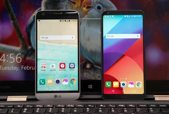 LG G6 против LG G5 - дисплей больших размеров при приблизительно одинаковых размерах (фото 2)
