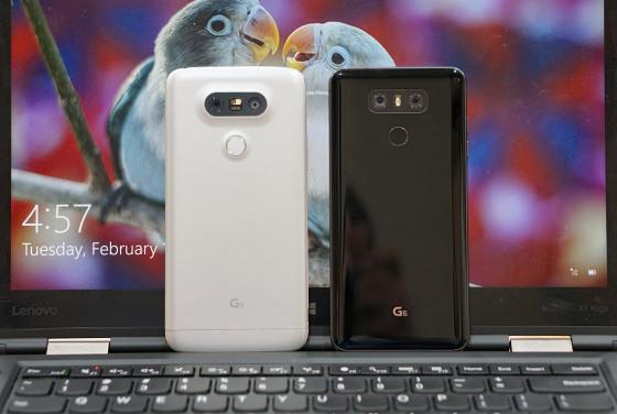 LG G6 против LG G5 - дисплей больших размеров при приблизительно одинаковых размерах (фото 1)