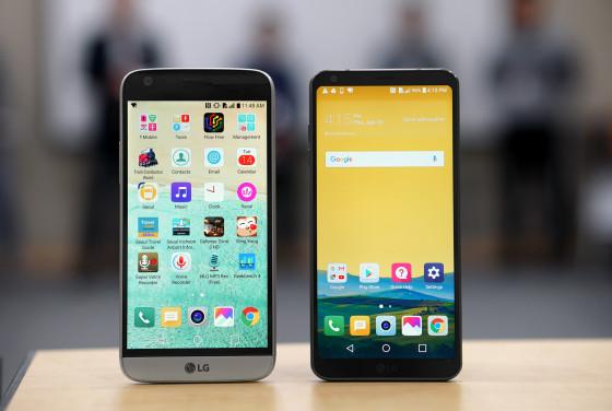 LG G6 против LG G5 - дисплей больших размеров при приблизительно одинаковых размерах (фото 4)