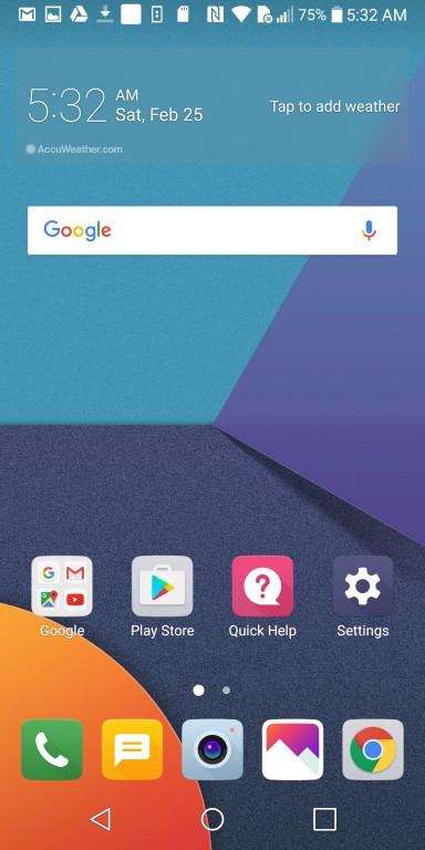 LG G6 - Ярлыки сторонних приложений (фото 1)
