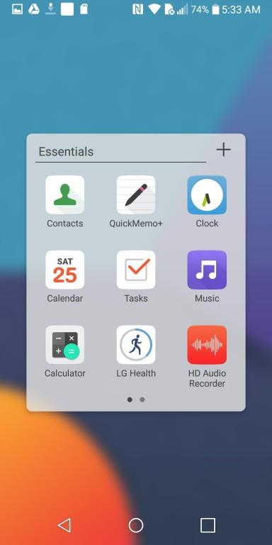 LG G6 - Ярлыки сторонних приложений (фото 2)