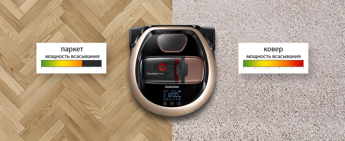 Интеллектуальная система мощности всасывания POWERbot VR7070