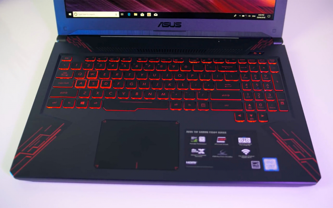 Обзор игрового ноутбука Asus TUF Gaming FX504 - дизайн, внутренняя часть