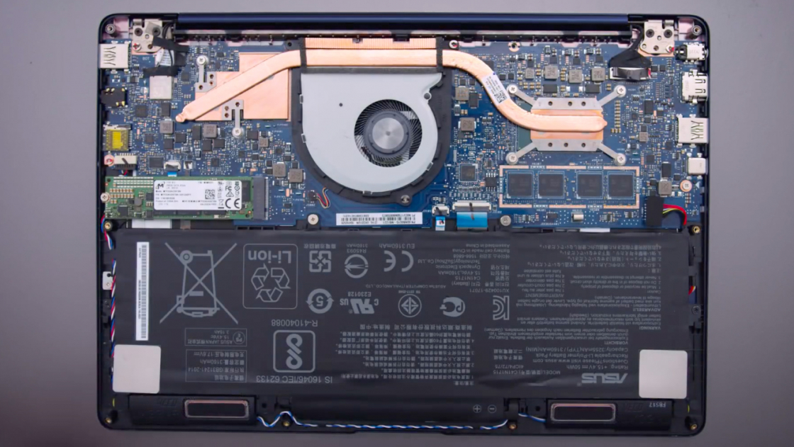 ZenBook 13 UX331UN в разоброном виде