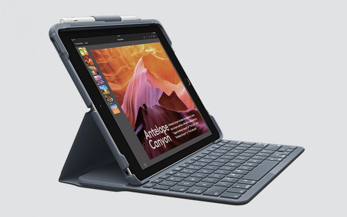 Чехол для iPad 9.7-дюймов (2018) - Logitech Slim Folio (фото 1)