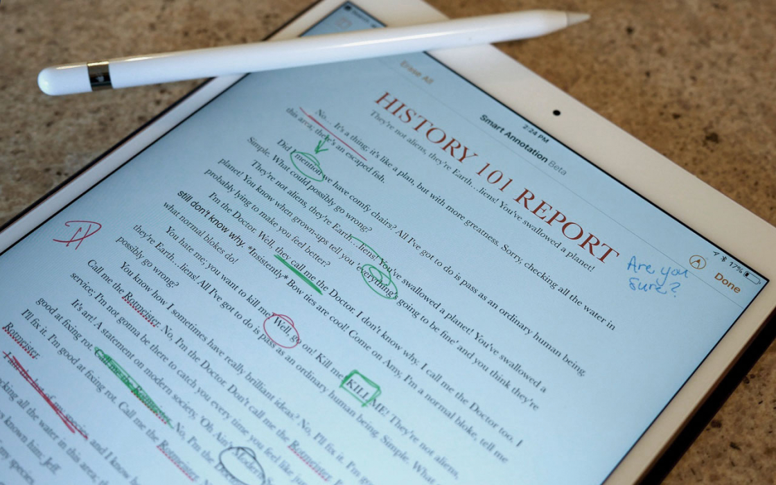 Обзор iPad 9.7-дюймов (2018) - Pages Smart Annotation