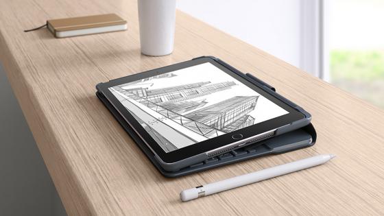Чехол для iPad 9.7-дюймов (2018) - Logitech Slim Folio (фото 3)