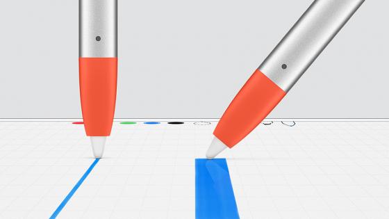 Обзор iPad 2018 - Logitech Crayon, чувствительность к наклону