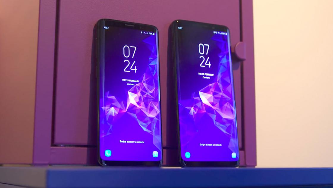 Обзор Samsung Galaxy S9 - сравнение экрана с Galaxy S9 Plus