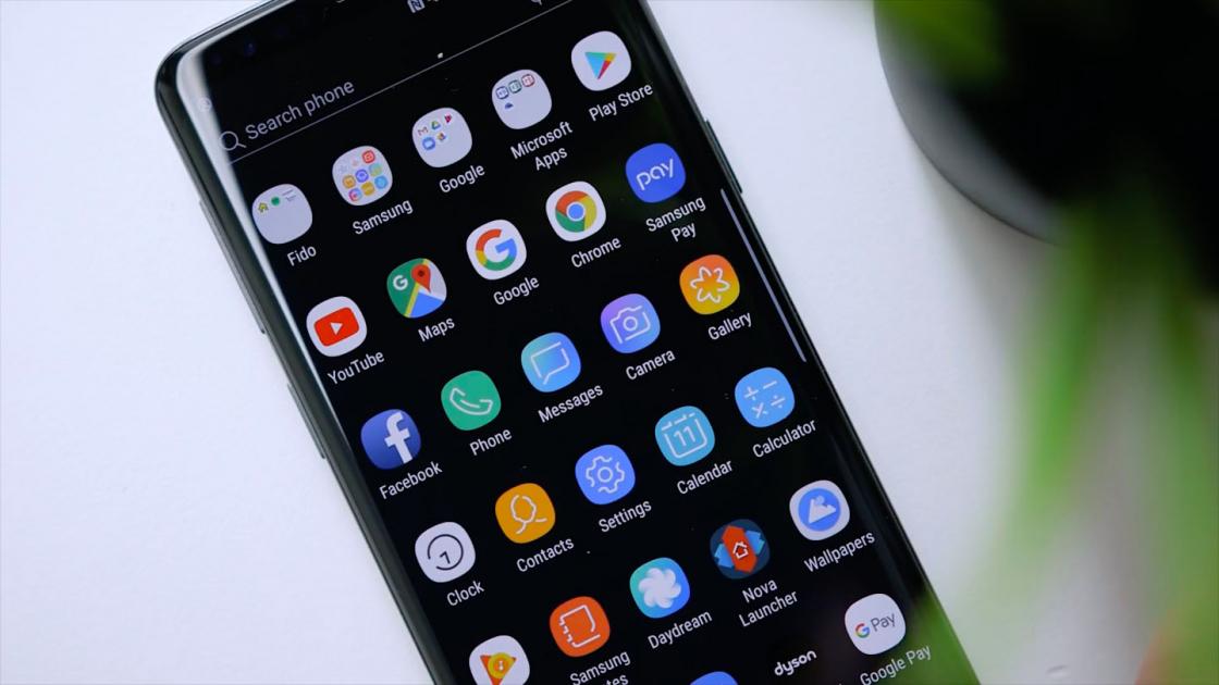 Обзор Samsung Galaxy S9 - экран приложений