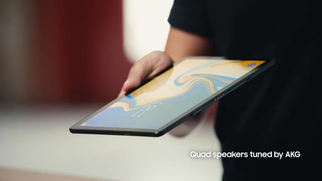 Samsung Galaxy Tab S4 - динамики AKG