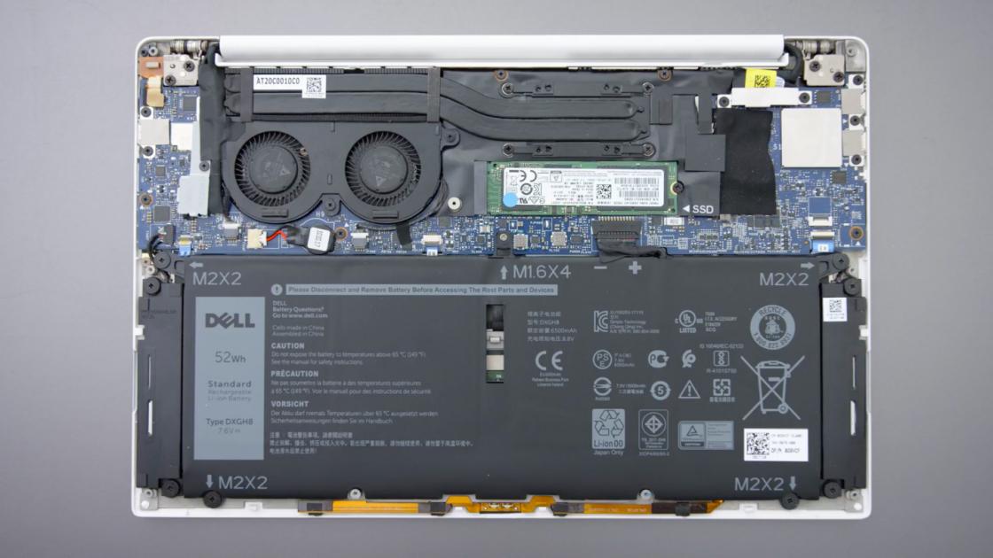 Dell XPS 13 9370 в разобранном виде