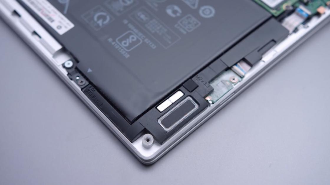Динамики под крышкой HP Spectre x360