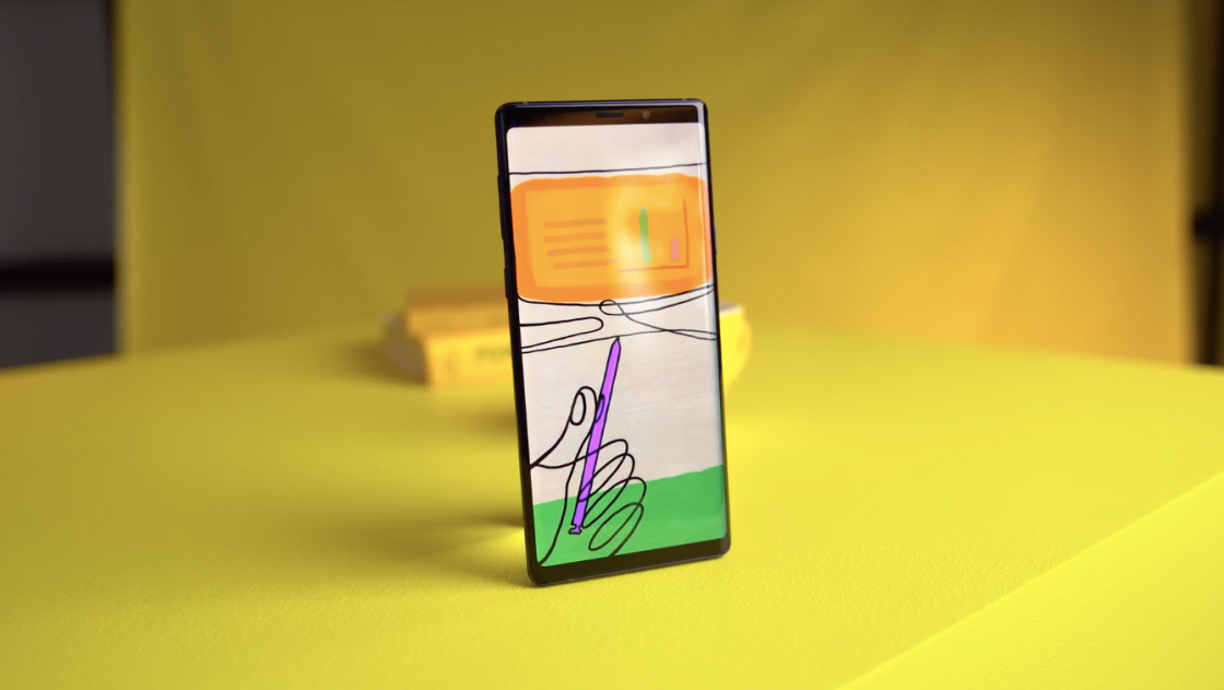 Обзор Galaxy Note 9 - Рисунок S Pen