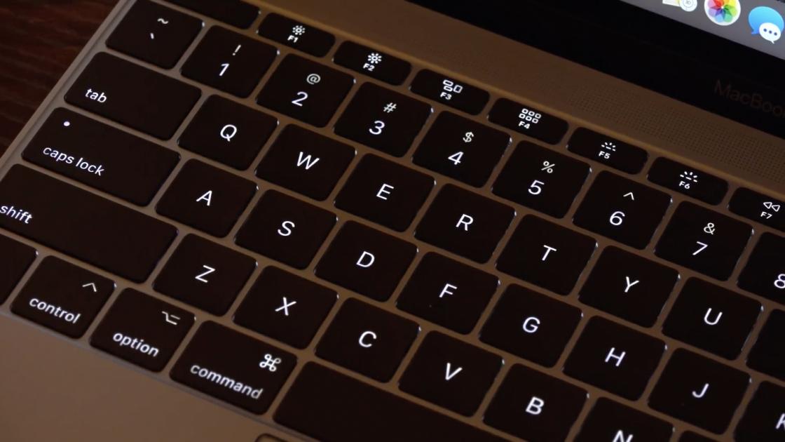 Подсветка клавиатуры MacBook (2017)