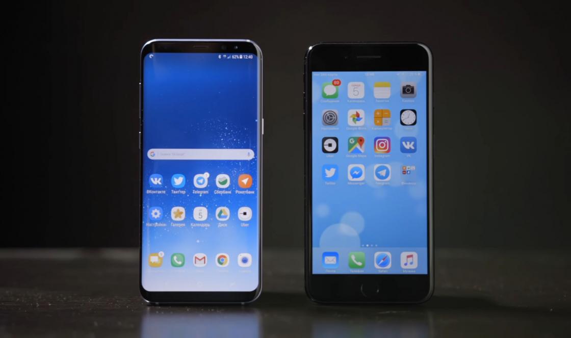 Обзор Samsung Galaxy S8 - сравнение с iPhone 7 plus