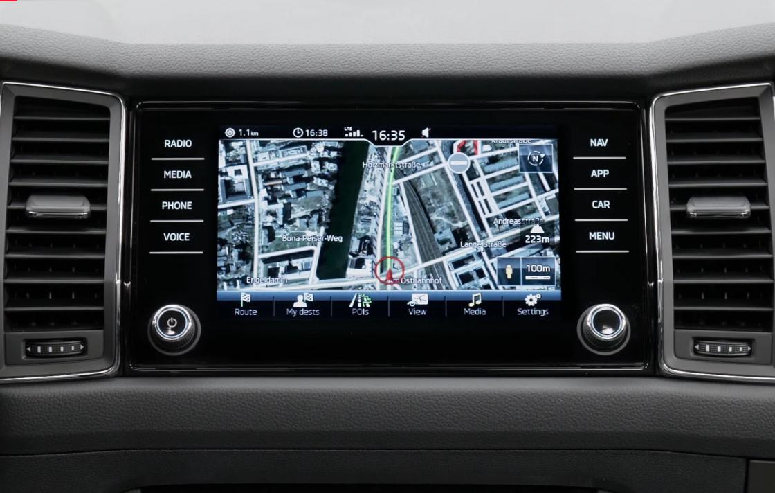 Обзор Skoda Kodiaq - навигатор