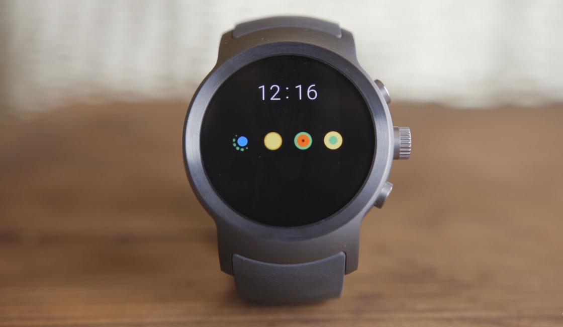 Обзор LG Watch Sport - отображение текущего времени
