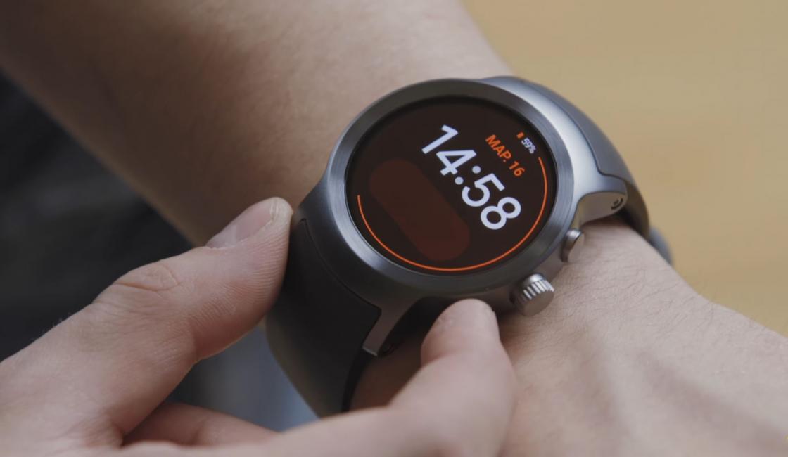 Обзор LG Watch Sport - управление