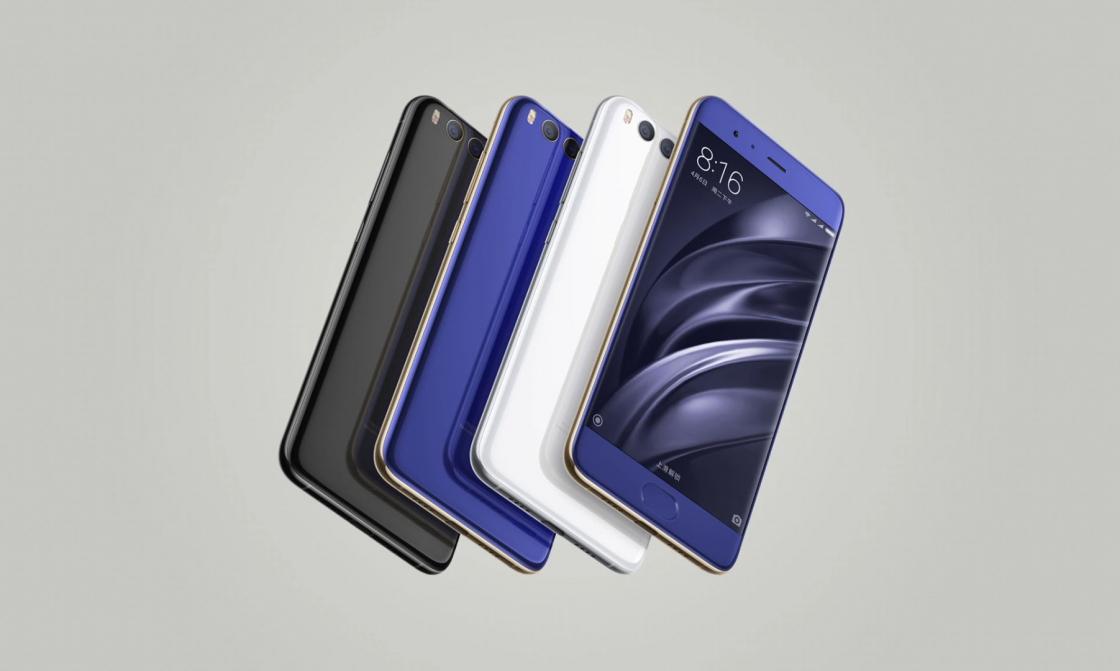 Обзор Xiaomi Mi 6 - три цвета, черный, белый и сине-золотой